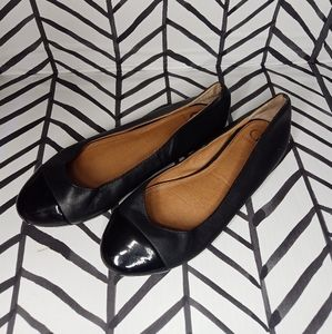 "Kelsey Dagger Flats ""Jordi"" leather patent toe"